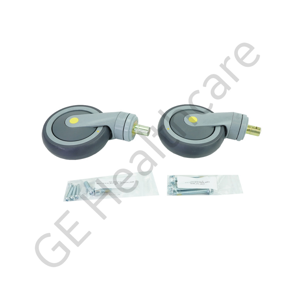 2 Swivel Conductive Caster Kit without Brakes