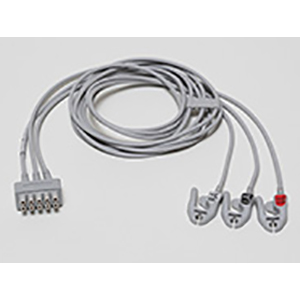 EKG Elektrodenkabel-Set, 3-lead, Klammer, AHA, 130 cm/ 51 in